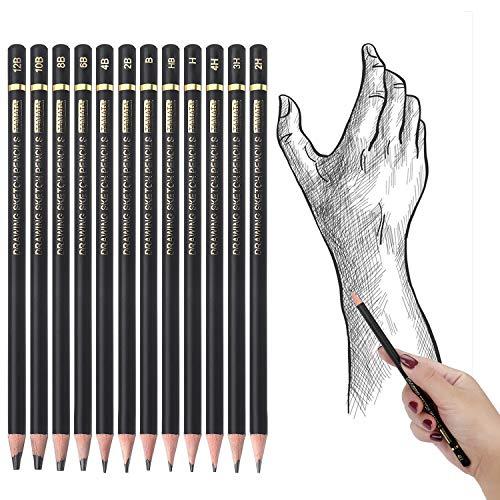 TAMATA Professional Drawing Sketching Pencil Set - 12 Pieces Art Drawing Graphite Pencils(12B - 4H), Ideal for Drawing Art, Sketching, Shading, for Beginners & Pro Artists Photo #7