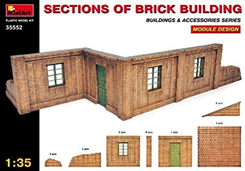 1 35 Brick Building Sections, Modular Design by MiniArt Plastic Models