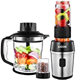 Aicok Mixer Standmixer (700W, 26.000 U/min) Blender 3-in-1 Smoothie Maker + Zerkleinerer +...