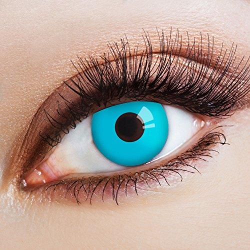 aricona Kontaktlinsen Farblinsen blaue Kontaktlinsen farbig Halloween Linsen / Cosplay Make-up