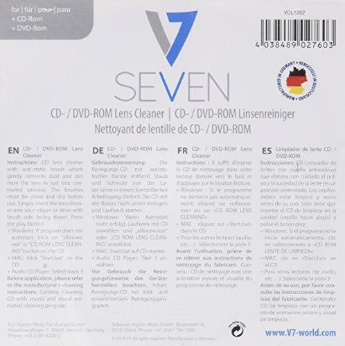 V7 Reinigungs CD für Laserlinsen in DVD und CD Spieler Player Linsenreiniger