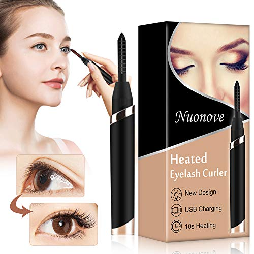 Heated Eyelash Curler, Electric Heated Eyelash Curler, Portable Eyelash Curler, Professional Heated Eye Lash Curler for Makeup Beauty Styling Curling Tools