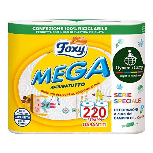 Foxy Mega Asciugatutto, 2 Rotoli
