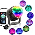 KOOT Disco Lights With RGB-7 Color,Sound Activated Disco Dance Lights with Remote, Magic LED DJ Lights RGB Strobe Lights - Best For Kids Birthday Party Dance Holiday KTV Gym Band.
