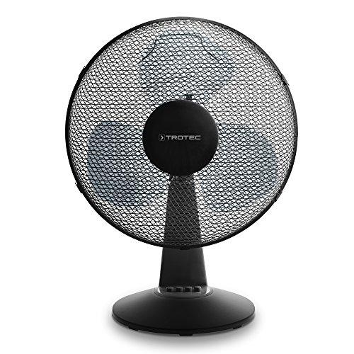 TROTEC TVE 17 Tischventilator Automatische 80° Oszillation mit Abschaltfunktion Tisch Ventilator 40Watt