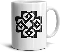 ENGXG11 Rhythm Cool Special White Novelty Daily Use Inspirational Rock Breaking-Benjamin-Logo- Coffee Mug TeaMugs Brithday Gift Office Lovers Home Decor Engagements Anniversaries Souvenir Cup