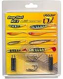 FTM Drop Shot Kit II - 8 Gummifische + 8 Haken + 4 Bleie zum Spinnfischen auf Barsche, Dropshot Köder zum Barschangeln, Gummiköder