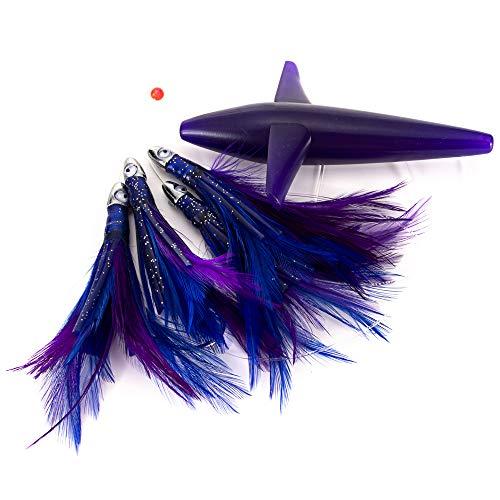 Lixada Angelköder Spinners Baits Spinnerbait, Feather Daisy Chain - Bird Teaser Fishing Spinners (Lila)