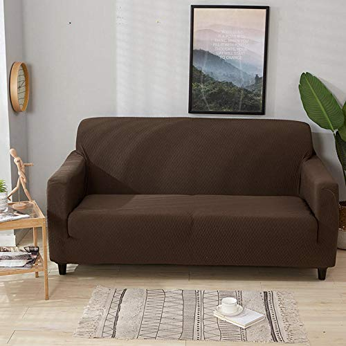 Allenger Thick Sofa Covers,Slightly Waterproof Elastic Sofa Cover, universal Non-Slip Cushion Cover for All Seasons, Anti-fouling Protective Cover for Furniture-Brown_190-230cm