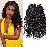 PF Hair 9A Brésilien Vague D'eau Vierge Cheveux 3 Trames 300 Grammes 12 14 16 Pouces...