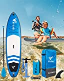 """Freein 10'2""""Inflatable SUP Stand Up Paddle Board with Motion Camera Base"""