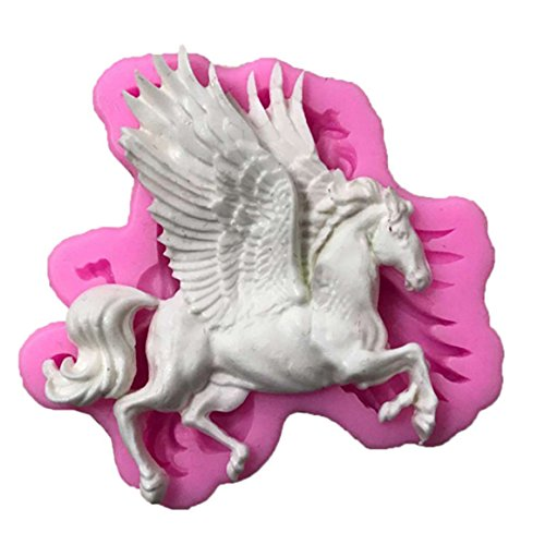 ODN 3D Pegasus Kuchenform Silikon Backform für Kuchen Fondant Dekorieren