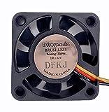 Dfroymalz (2PCS) Sleeve DC Brushless Cooler Cooling Fan 40mm x40mm x 10mm 4010fan 12V 3Pin Computer, Server, Inverter, Inverter, CPU Cooler, Ventilation and Exhaust Project, Cooling Fan