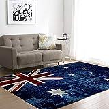 WZZSKE Teppich Kurzflor weicher Designer Anti-Rutsch Unterseite fürs Wohnzimmer Schlafzimmer & die Kinderzimmer geeignet Blaue weiße rote britische Flagge Teppich Größen: 120 x 170 cm