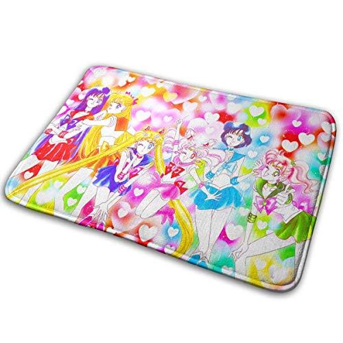 Nar Land Willkommen Fußmatten Sailor Moon Luna Indoor Outdoor Matten Eingang Teppiche Gummi rutschfeste Fußmatten 15,8