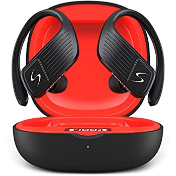 SENSO Wings Wireless Earbuds Bluetooth 5.0 TWS True Wireless Earphones Best Sport Headphones for Workout Noise Cancelling Sweatproof Ear Buds with Mic 40 Hours Playtime for iPhone Running Gym