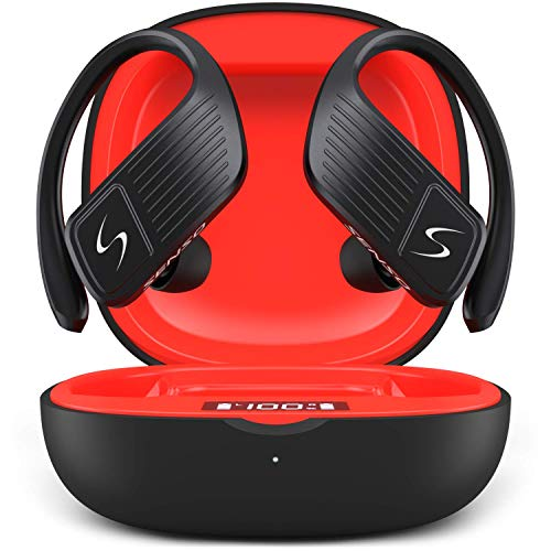 SENSO Wings Wireless Earbuds, Bluetooth 5.0 TWS True Wireless Earphones, Best Sport Headphones for Workout Noise Cancelling Sweatproof Ear Buds with Mic 40 Hours Playtime for iPhone, Running, Gym
