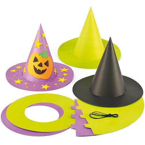 Baker Ross Cappelli Strega e Mago in Cartoncino Colorato (Confezione da 3)- è l'accessorio Ideale per Costumi di Halloween, Feste in Maschera e Altro.