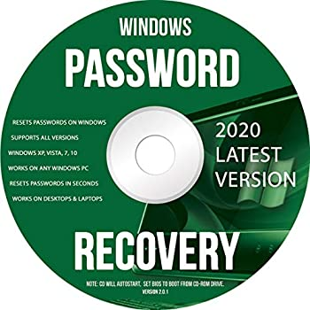 Ralix Windows Password Recovery DVD - Supports All Versions Windows XP Vista 7 10 Resets Passwords in Seconds - 32/64 Bit  Latest Version