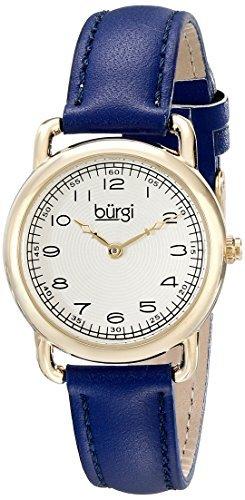 Burgi'da donna, con orologio, Display analogico, al quarzo, colore: blu