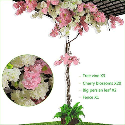 XLST Künstlich Kirschblüte Baum Seidenblume Pflanzen Realistisch Strauß Dekor Zum Zuhause Hotel Büro Hochzeit Party Garten Arrangements