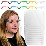 TCP Global Salon World Safety Kids Face Shields with Glasses Frames (Pack of 10) - 5 Color...