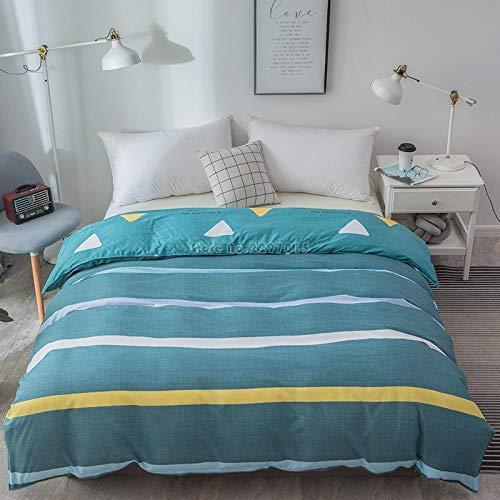 Rnvvaceo Kids Duvet Cover Set for Single Double Super King Size Bed, 3D Simple blue stripes Printing Microfiber Bedding Set with Pillowcases and Quilt Case Double size 200 x 200 cm, Boy duvet suit