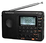 Retekess V115 Portable AM FM Radio with Shortwave Radio MP3 Player Digital Record Support TF Card...