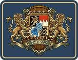 RAHMENLOS Deko Blechschild für Bayern Fans Wappen