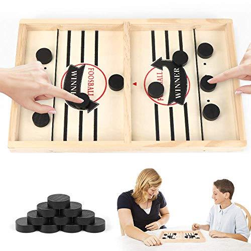 Hockey Brettspiel, Schnelles Fast Sling Puck-Spiel,Fast Sling Puck Game, Bouncing Hockey,Bouncing Chess Hockey Game, Brettspiel Tisch, Eltern-Kind Interaktives Spielzeug-Partyspiel für Erwachsene