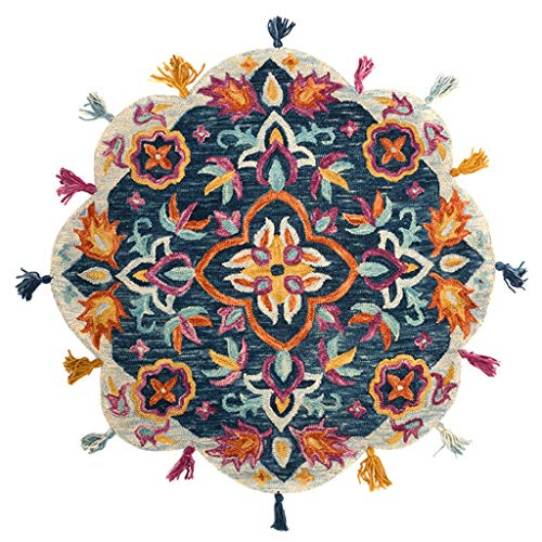 For Sale! CarPet Rug Bohemian Multicolor Floral Pattern Tassel Accents Indoor Decorative (Size : 120...