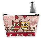 Bolso Día de San Valentín Búhos Enamorados Imprimir Bolsa Linda Artículos de tocador Bolsa de Viaje Cepillo Organizador Monedero