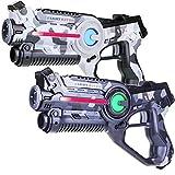 Light Battle Active Laser Game Set - 2X Laserpistole (camo grau, camo weiß) - LBAP10267D