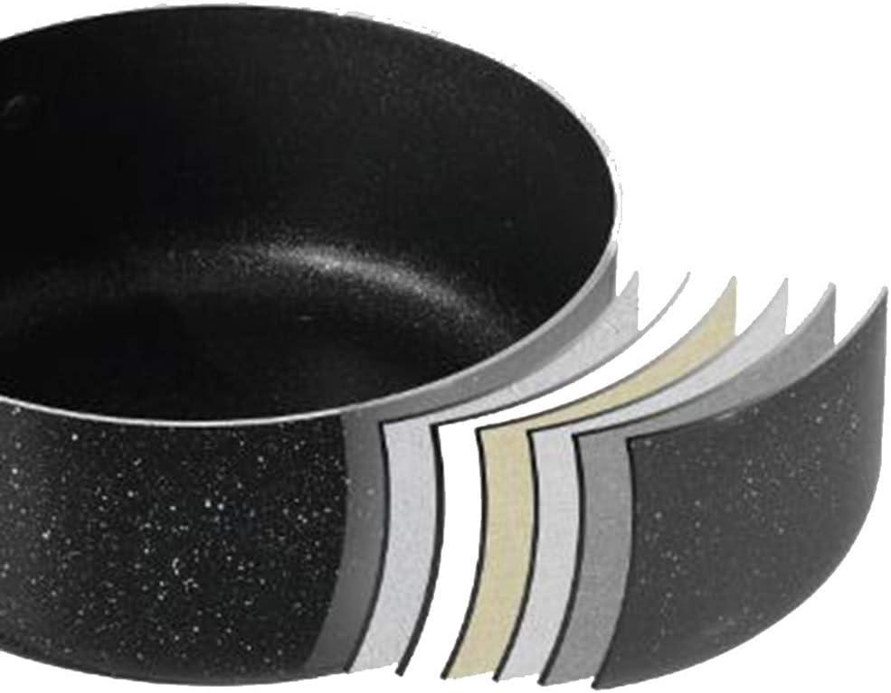 ZLJ Marmite antiadhésive Cuisson Nouilles Soupe Soupe en Alliage d'aluminium cuisinière à Induction de gaz Usage général épaissir Fond 18 cm 18cm