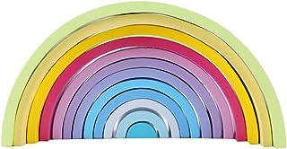 積み木 虹色 木製ブロック 木製立体パズル カラーソート ジグソー 虹デザイン 知育玩具 立体玩具 組み立て 保育所・児童館用品 お誕生日 入園 出産お祝い プレゼント 男の子 女の子