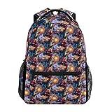 LNLN Galaxy Outer Space Universe Mochilas Coloridas College School Book Bag Viajes Senderismo Camping Daypack