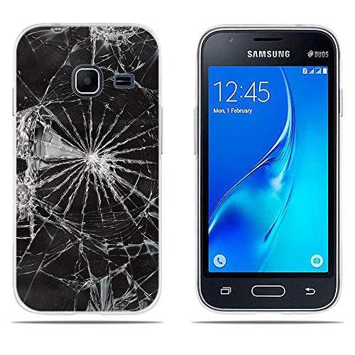 DIKAS Compatible with Custodia per Samsung Galaxy J1 Mini J105, Carina 3D Rilievo Ultra Slim TPU Skin Cover Protettiva Shell Custodia per Samsung Galaxy J1 Mini J105- PIC: 07
