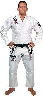 SHOGUN Fight Jiu Jitsu Gi Ultra Light 'Kanji' White IBJJF Legal 350gsm Pearl Weave Cotton Premium BJJ