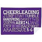 Cheerleading Premium Blanket   Cheer Words   Purple