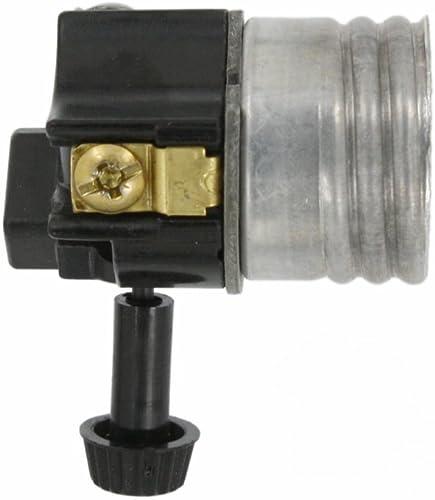 Leviton 10083-M Electrolier 1-Circuit Lamp Holder, 250 W, Incandescent, Medium, Phenolic Body, Aluminum Shell, Contra...
