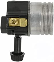 Leviton 10083-M Electrolier 1-Circuit Lamp Holder, 250 W, Incandescent, Medium, Phenolic Body, Aluminum Shell, Contractor Pack, Black