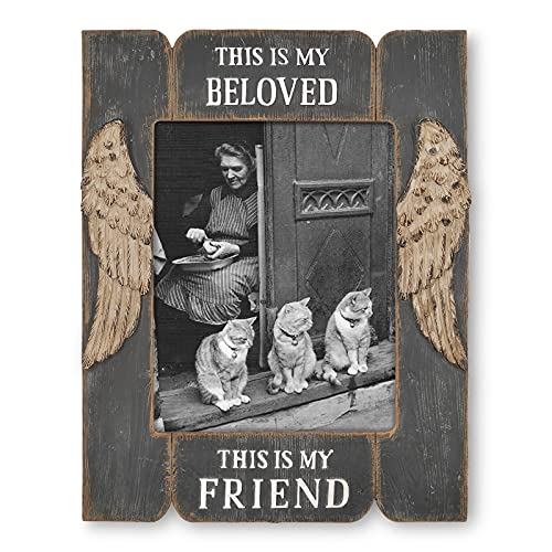 Simon's Shop Picture Frames 8x10, Gifts for Mom Grandma - This is My Beloved This is My Friend (Distressed Black)