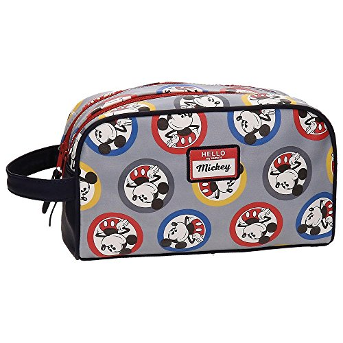 Disney Mickey Circles Beauty Case da viaggio, 26 cm, 4.58 liters, Blu (Azul)