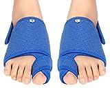 Corrector de juanetes para dedos de los pies, con un par de almohadillas de gel para el arco, hallux valgus con soporte de barra de metal ,alivio del dolor de juanetes para adultos