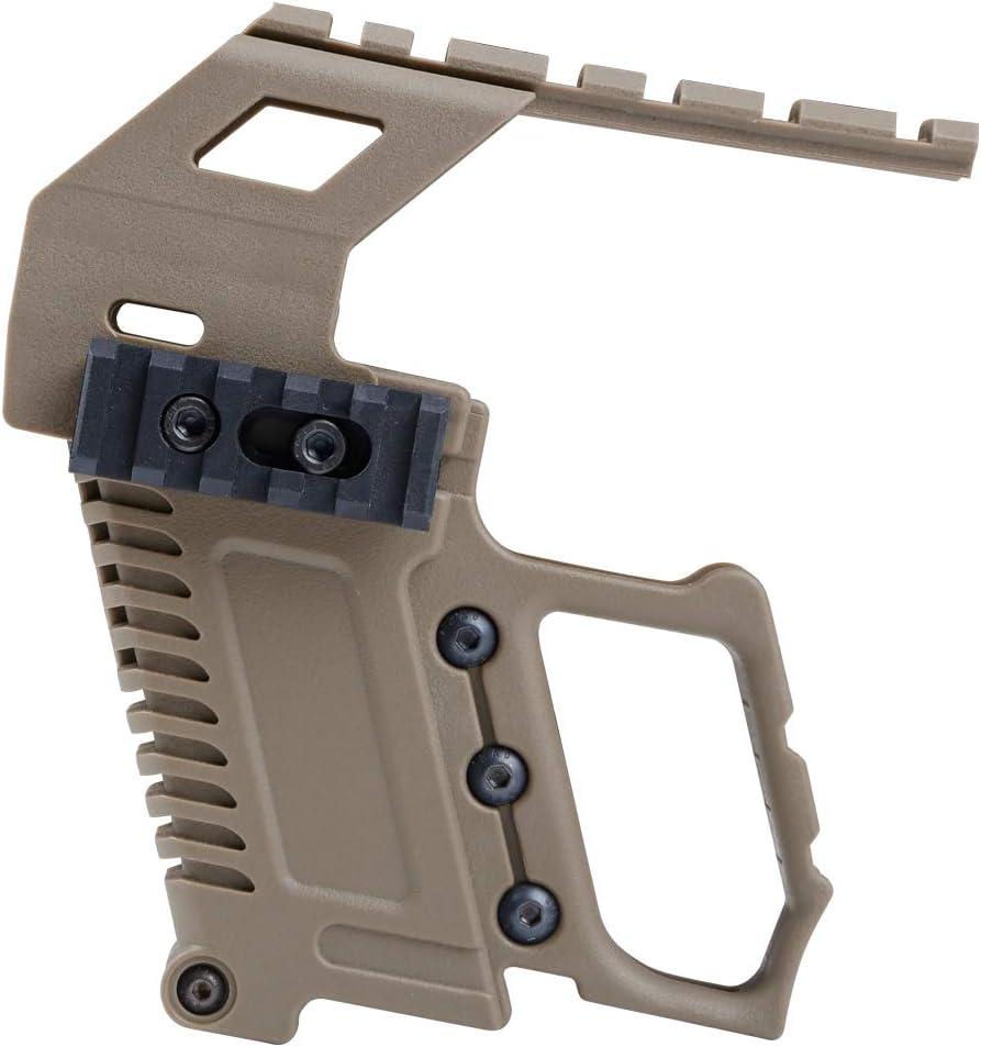 Huenco Tactical Glock Series Pistola Carabina Kit Reload Dispositivo de Carga de la Base del riel guía para Glock G17 G18 G19