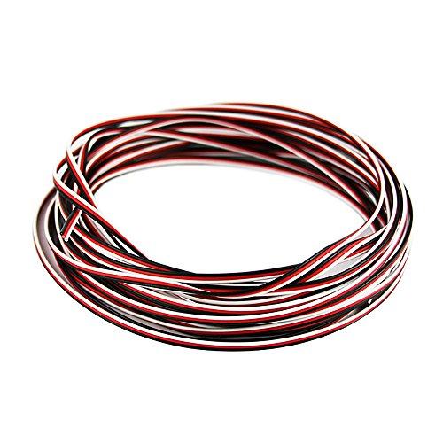 OliYin 50 Feet 26AWG Servo Cable 3p Line for Futaba JR RC...
