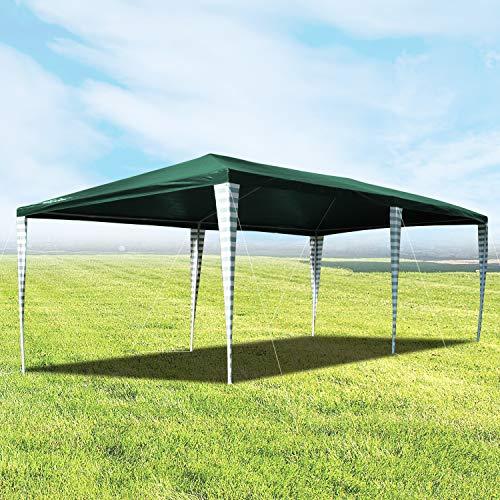 Hengda 3x6m Tenda da Giardino, Protezione UV Gazebo da Festa Verde Impermeabile per Fiere,Feste e Mercati