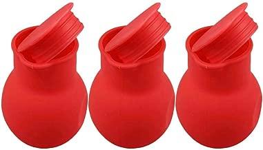 BESTONZON 3Pcs Silicone Chocolate Melting Pot Melt Butter Heat Milk Sauce Microwave Baking Pot (Red)