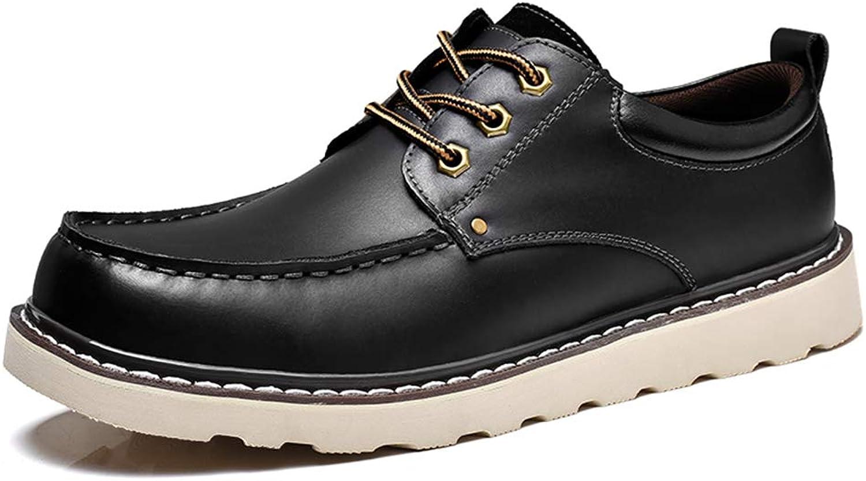 Keliour Herren Schuhe, Oxford-Leder, bequem, runde Zehen, leicht, Reine Reine Reine Farbe, Schnürschuhe, Schwarz, 38,5  0fb46b