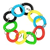 Coil Wristband Keychain Bracelet (50 Pack)